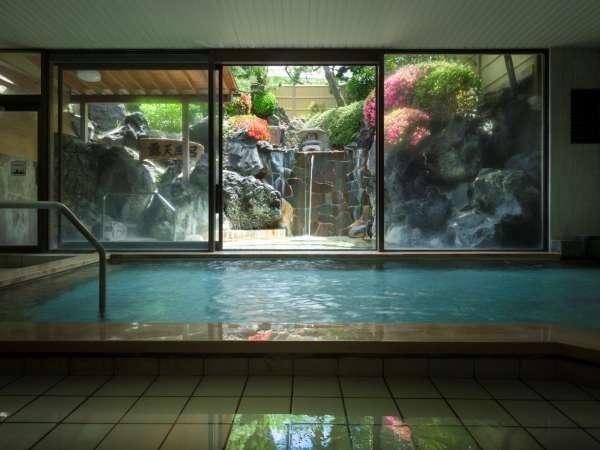 元湯庭園風呂内湯(殿方)/鐘山苑の大浴場もご利用頂けます