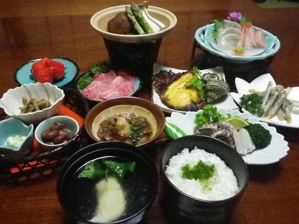 ご夕食 ★四季折々の会席料理★  ※画像はイメージです。仕入状況によりメニューは異なります。