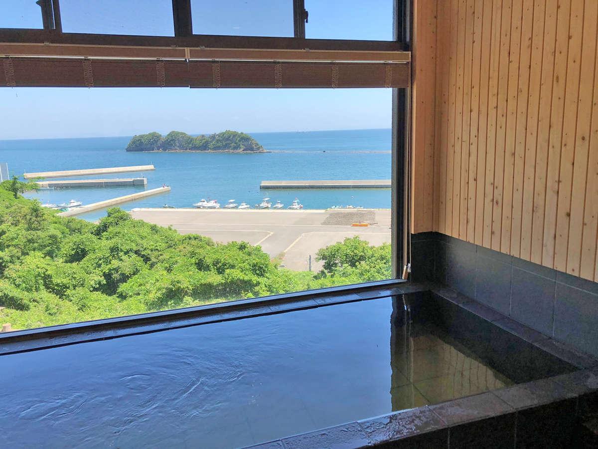 □展望風呂□周防灘の絶景をゆったり楽しめます。