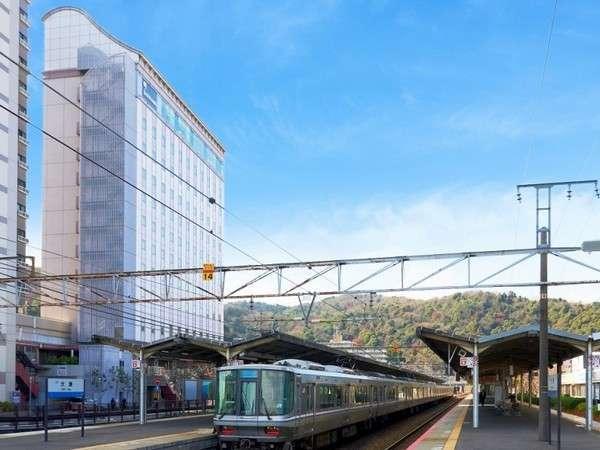 JR京都駅から2駅9分のJR大津駅の南口直結のホテルです。