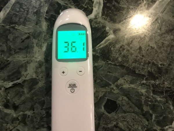 当館で使用している体温計です
