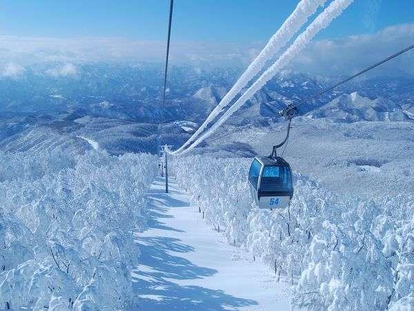 ゴンドラで観る森吉山樹氷