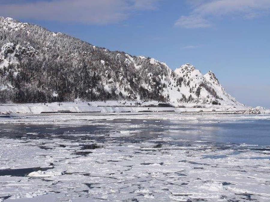 【流氷】枝幸の海は1月~2月になると、一面が流氷に覆われます。