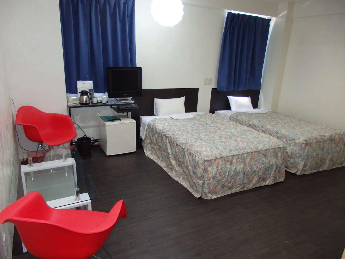 ツインルーム ゆったりサイズベッドで快適な客室