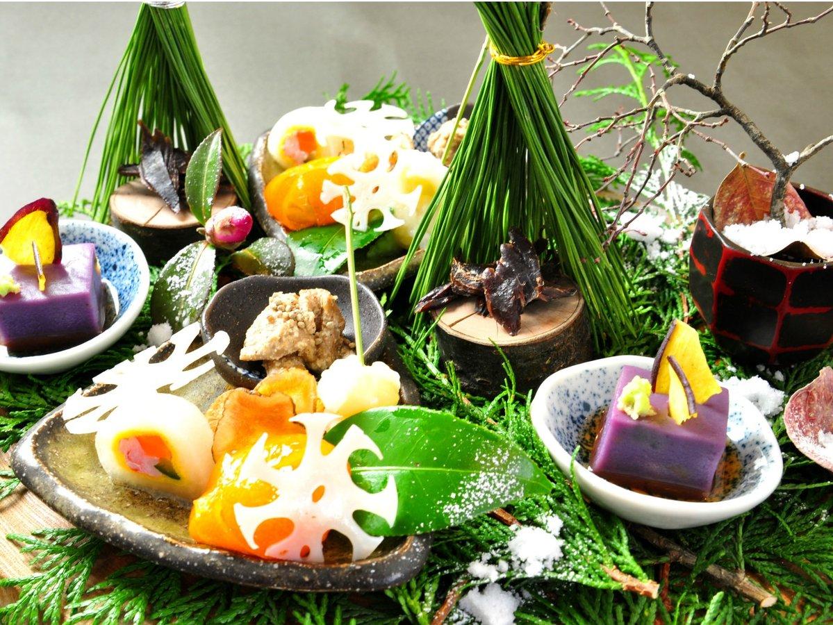 【ご夕食】里山の懐石の一品一例(冬)