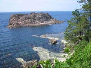 三田浜までの道から見た日本海 絶景です。