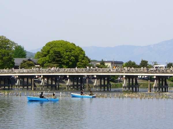 ☆渡月橋を間近に楽しめるボート