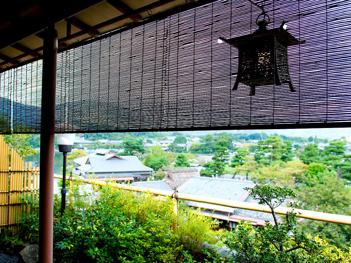 【碧川閣】露天風呂付客室からの眺め