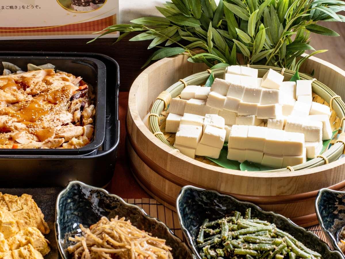 【朝食】和のお惣菜も豊富にご用意しています。