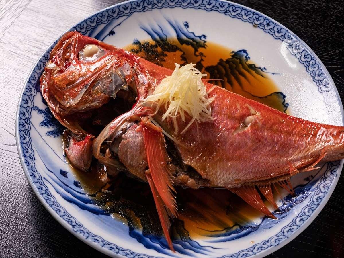 【別注1番人気:金目鯛煮つけ】とにかく大きい!美味い!大人気の為、お得な1日2組様限定プランで登場!