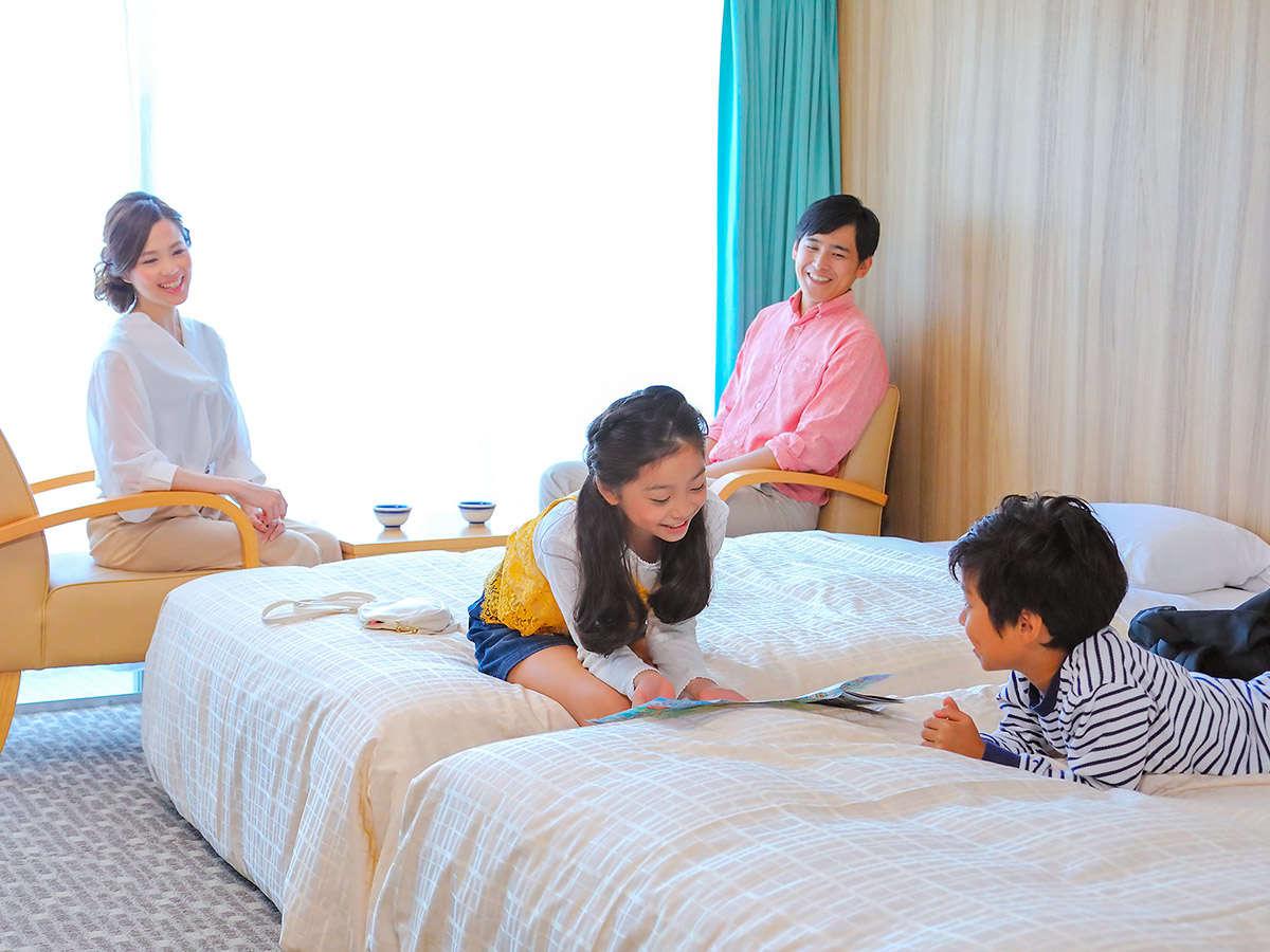 家族で寛げるお部屋