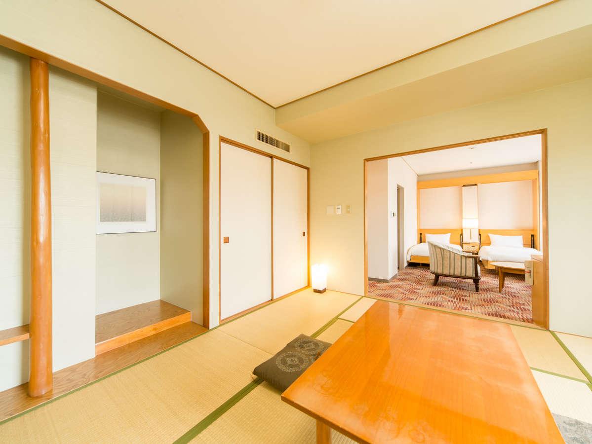 和洋室。和室と洋室の二間続きで、45㎡の広々設計!
