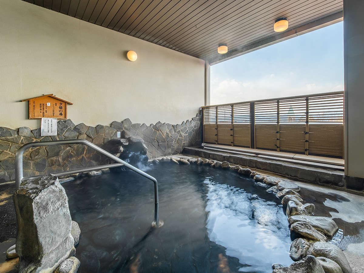 [露天風呂(女性)]松代温泉をひいています。