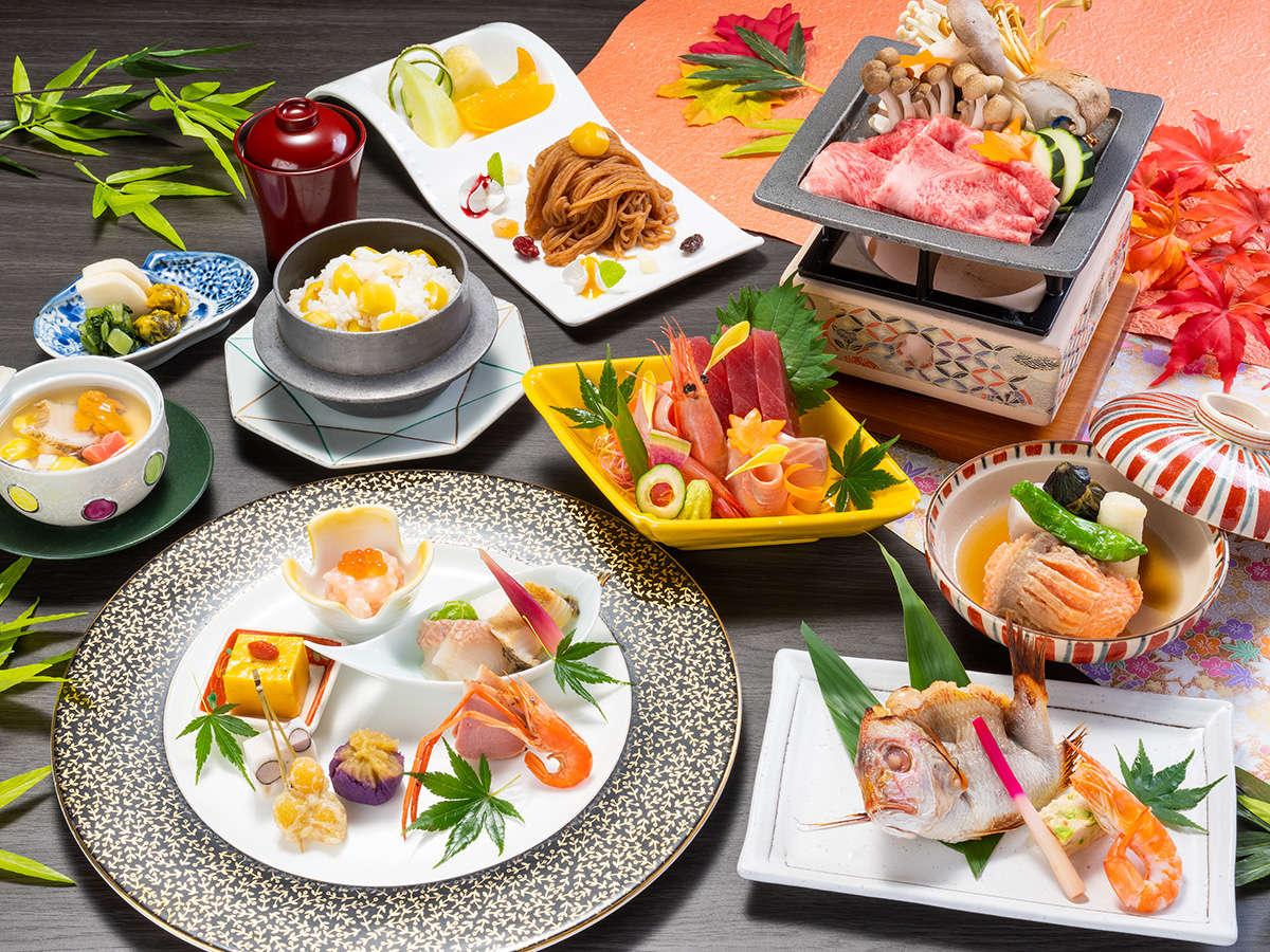 [日本料理]季節の食材を使った繊細な会席料理。内容はおまかせです。(イメージ)