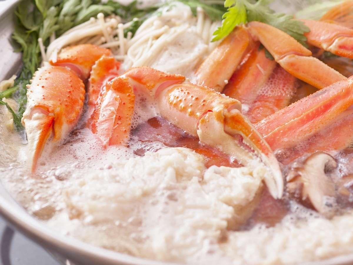 ①「湯気が恋しい季節です!」城崎温泉で外湯巡りしながら蟹鍋を食べてみませんか?