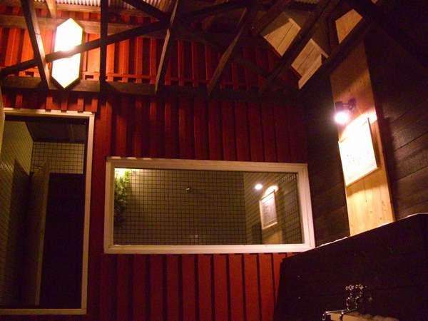 Aコテージ露天風呂の夜景