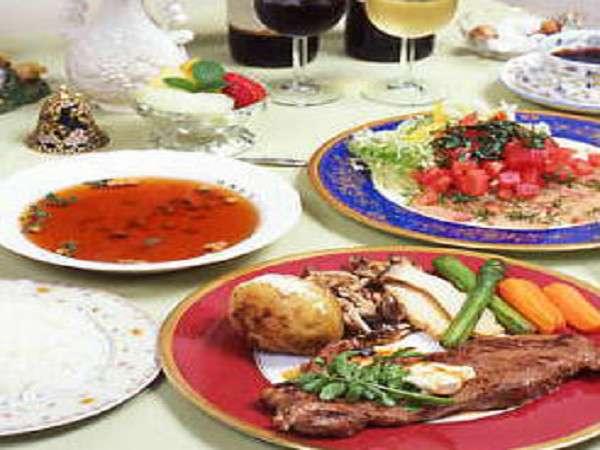 ステーキと白身魚のカルパッチョ