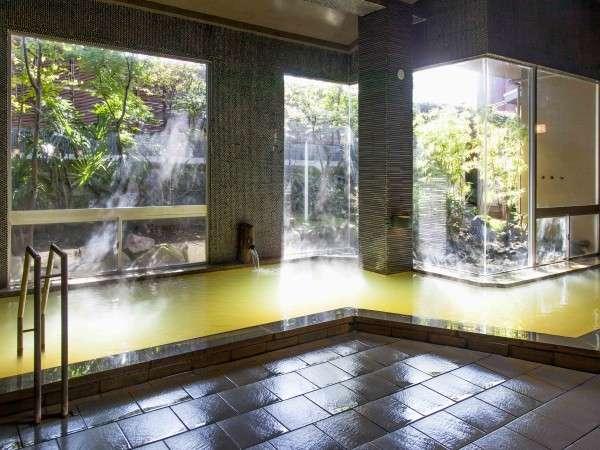 【大浴場】源泉からかけ流しの湯をゆっくりとお楽しみください/例