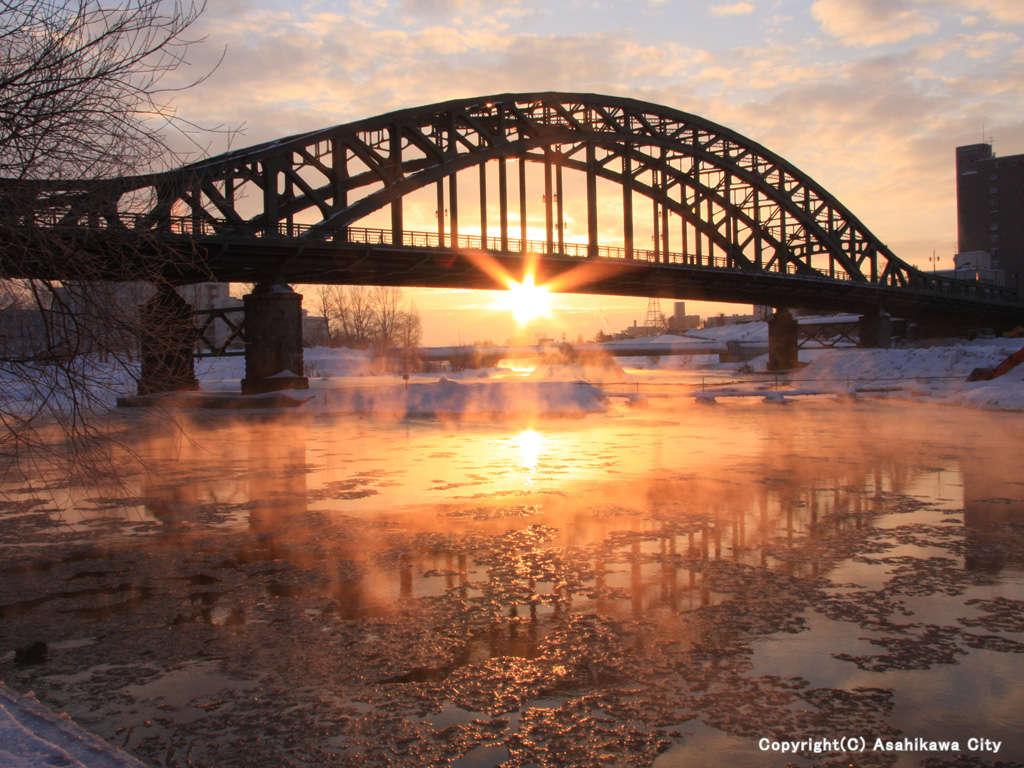 北海道遺産 旭橋 旭川の中心です。