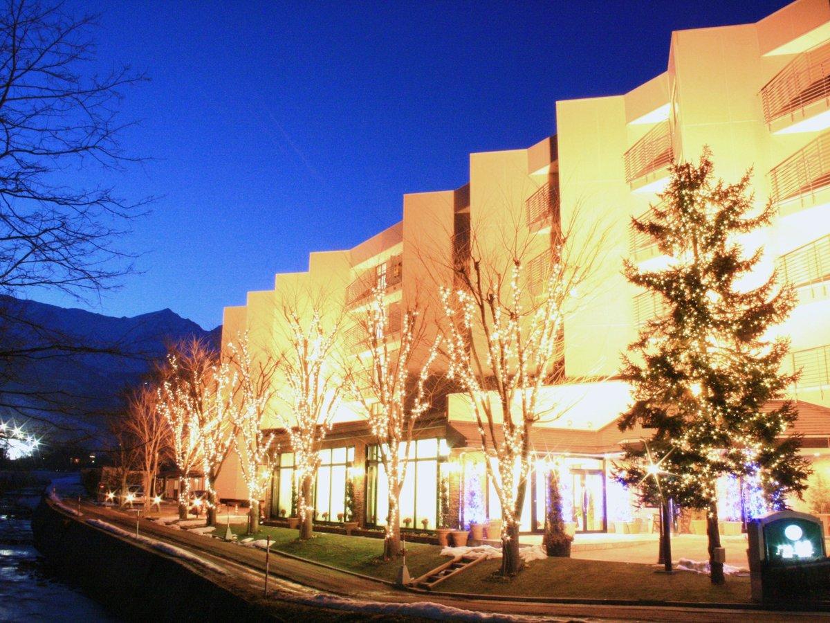 ホテル白馬夜景