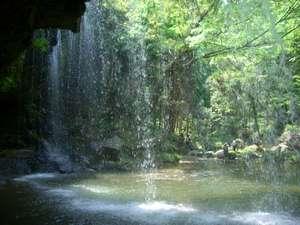 「鍋ヶ滝」裏側より撮影