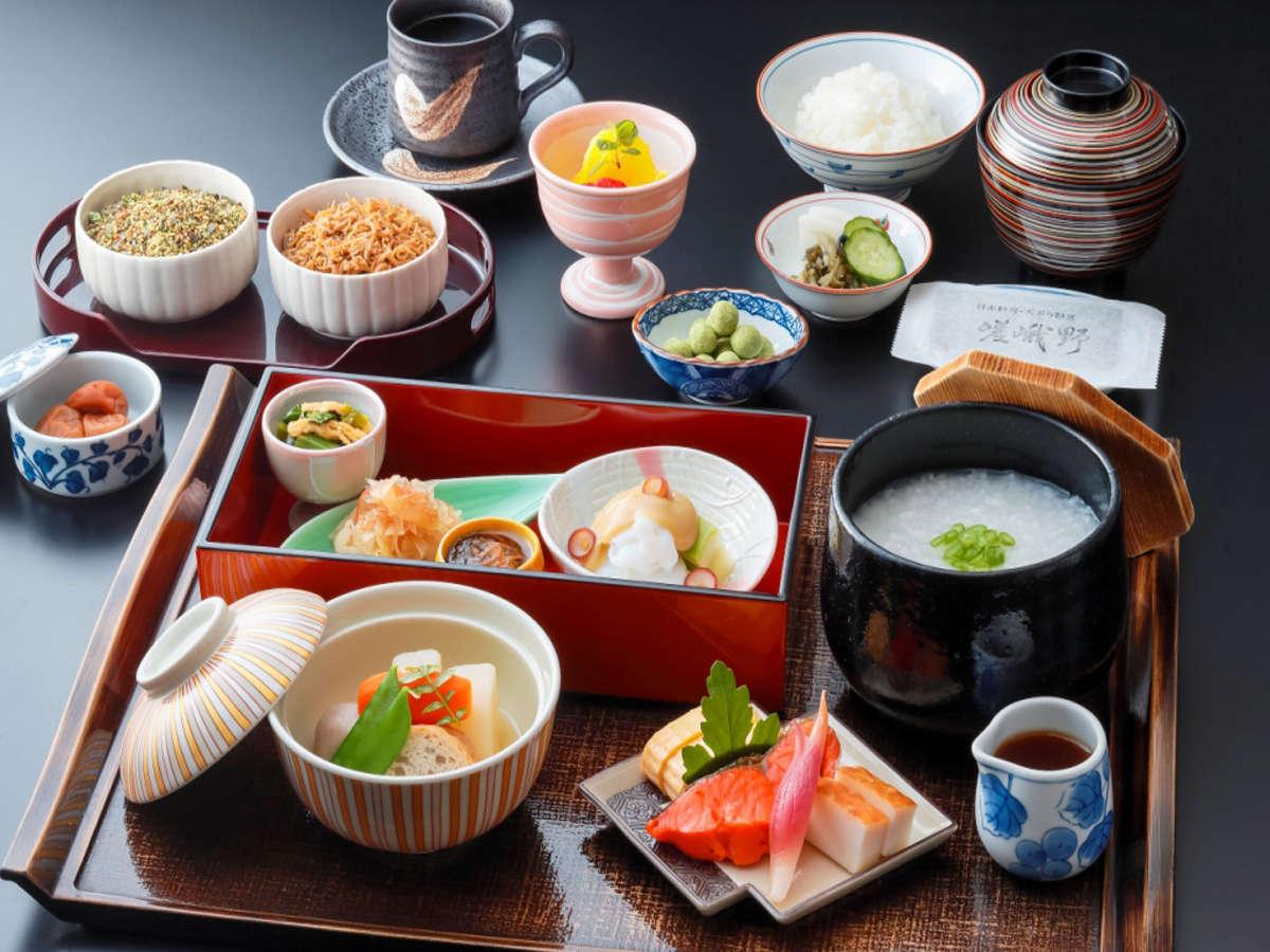 【日本料理 嵯峨野】和定食 ご飯かお粥かをお選びいただけます。