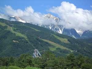 白馬の夏、各登山口送迎サ-ビスしています。