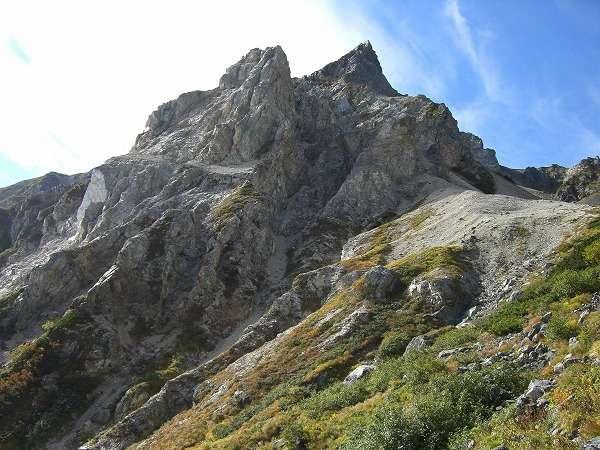 白馬三山の一つ、杓子岳