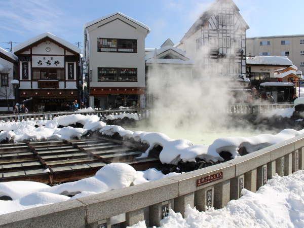 雪化粧で真っ白に染まる、冬だけの景色です♪