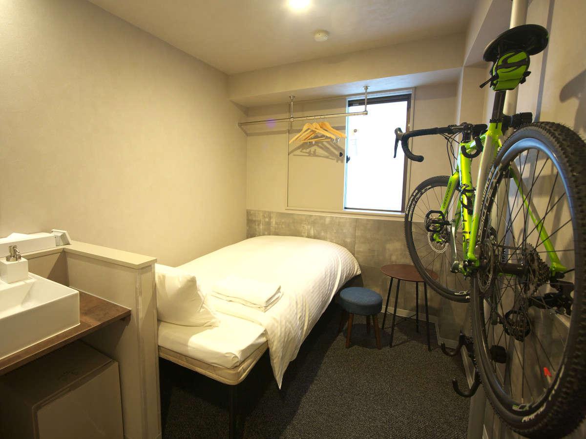 大切な自転車をお部屋に持ち込めます