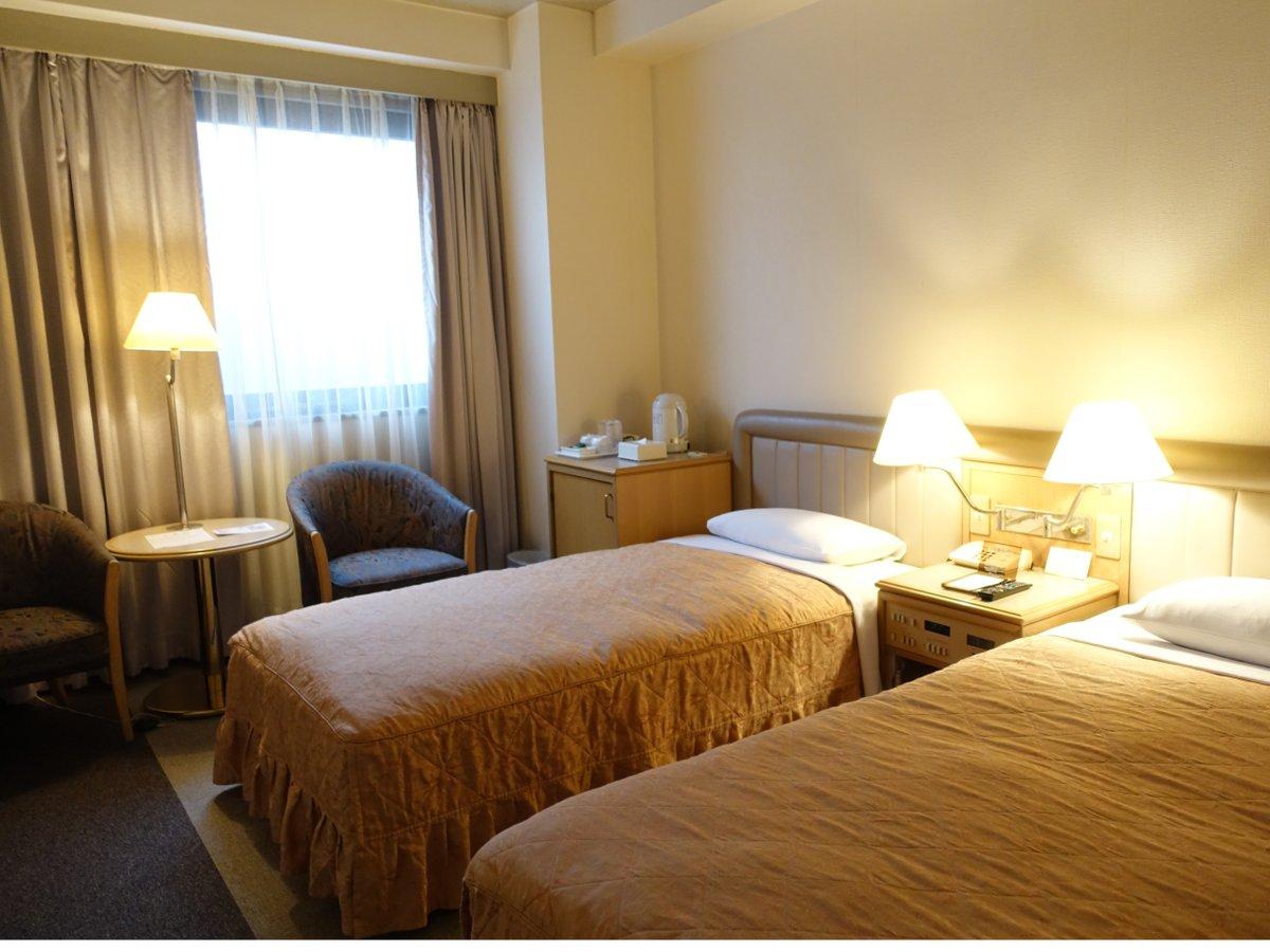 ◆ツインルーム◆19平米のお部屋です。ごゆっくりお寛ぎ下さいませ。