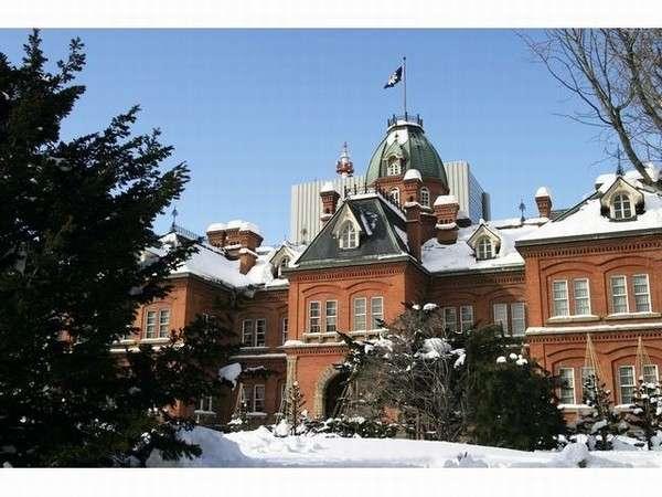 【北海道赤レンガ庁舎 (冬)】堂々とした姿の北海道庁旧本庁舎