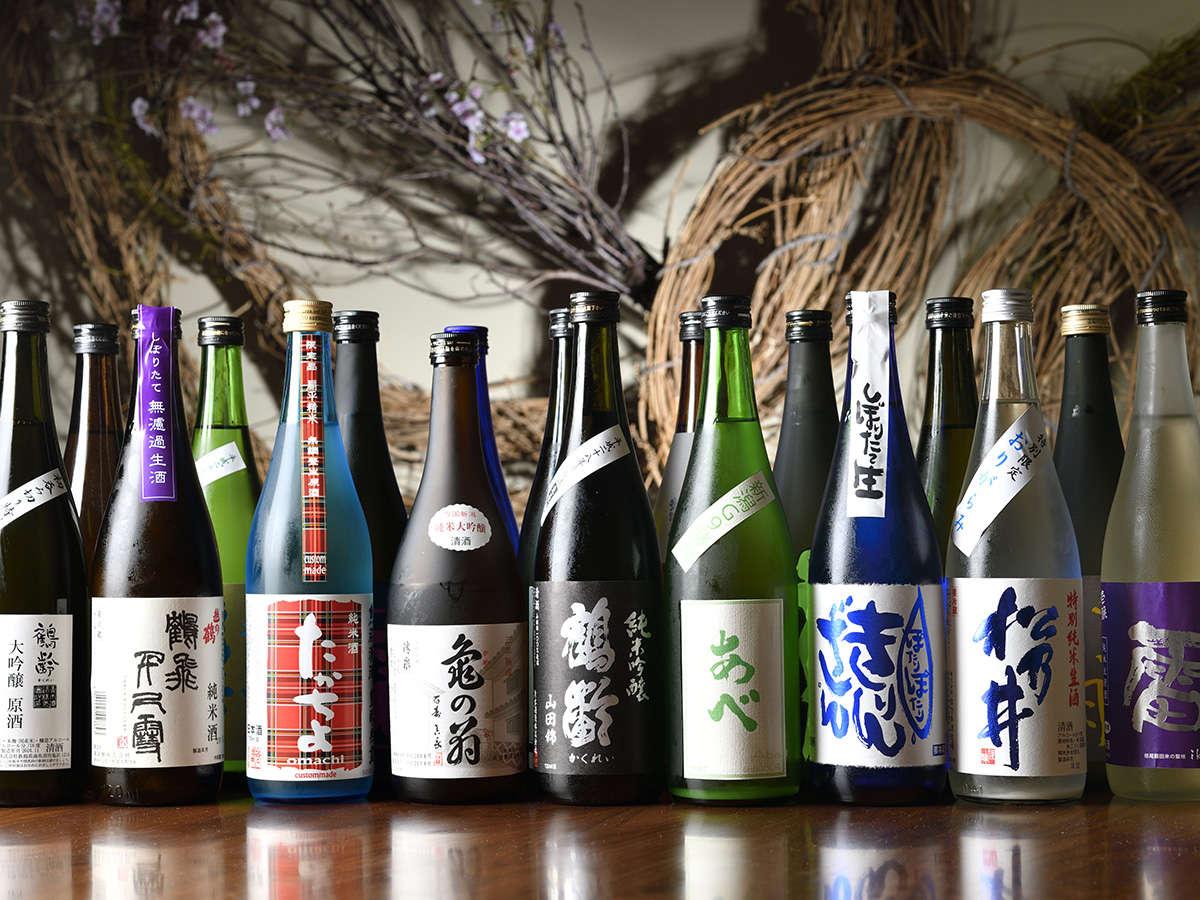 ここでしか出会えない100種類を超える日本酒たち
