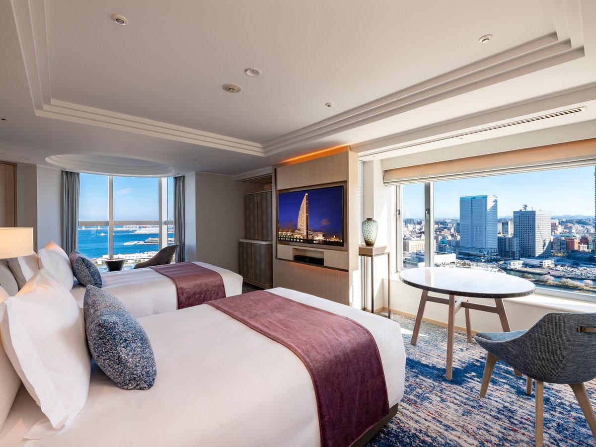 【ハーバースイート】ベッドルーム一例(ツイン) 2020年3月リニューアル完了