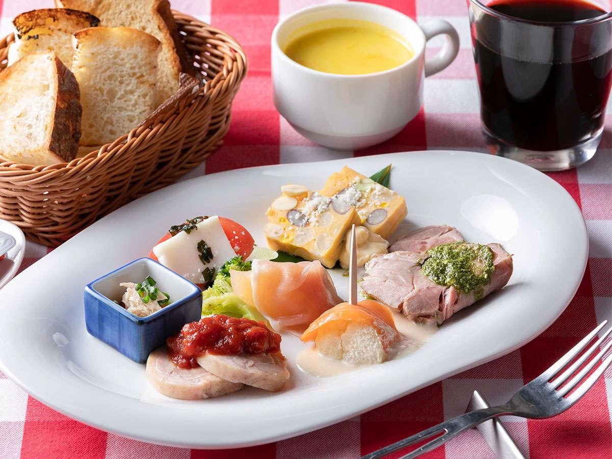 和洋から選べるセットメニュー朝食【洋食】シェフ自慢のイタリアンプレート