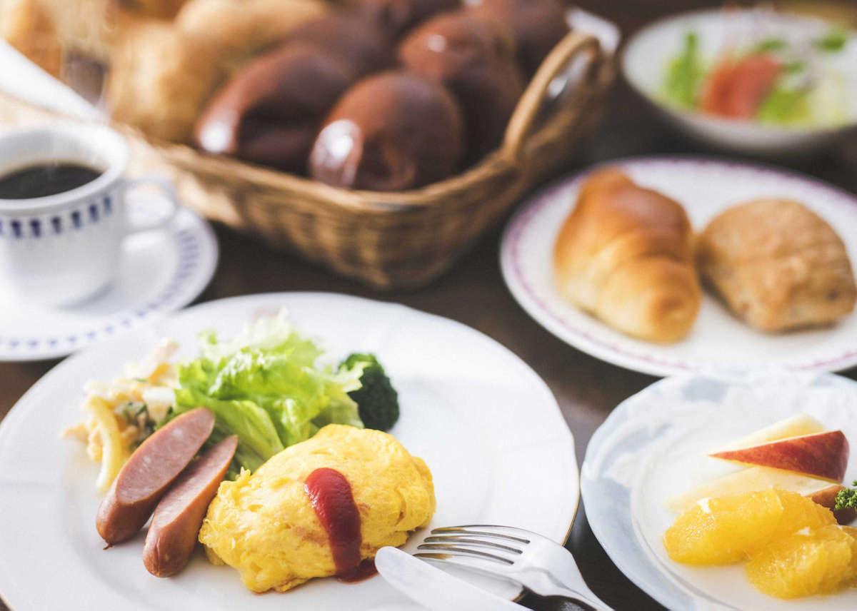 朝食イメージ 洋食:700円~ 7:00~9:30