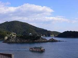 鞆の浦 対潮楼からの眺め!(弁天島)