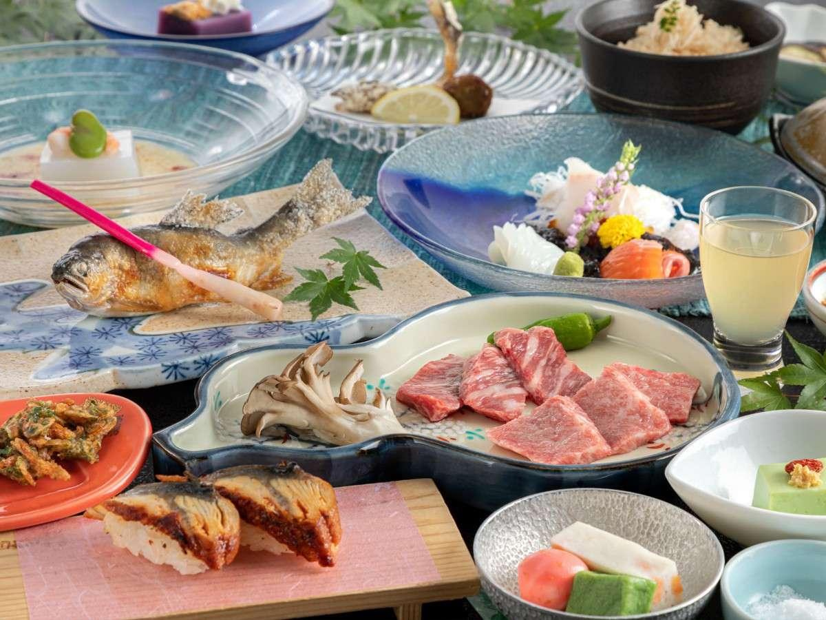 【夕食】『味くらべ懐石』一例