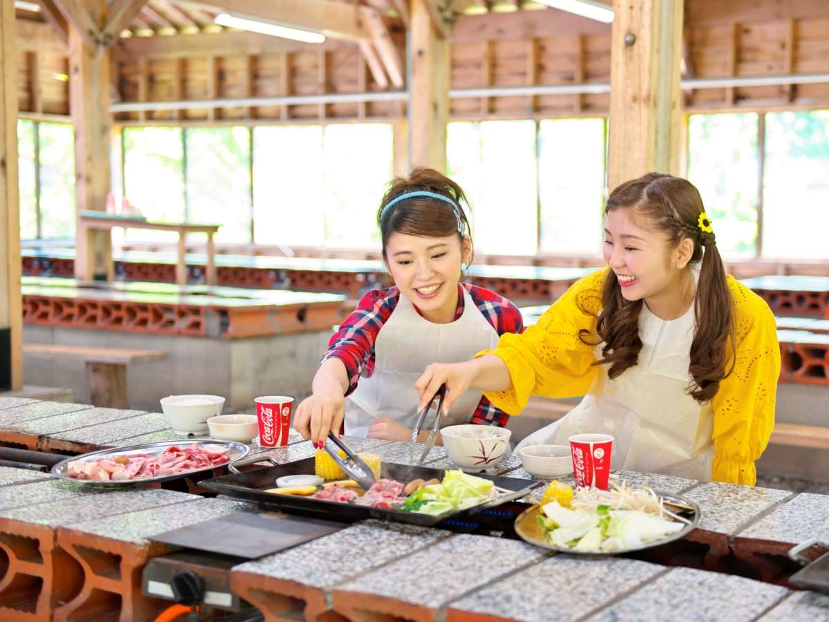 ■【ランチ】食欲の秋★遊園地でバーベキュー!ランチセットや食べ放題メニューも♪