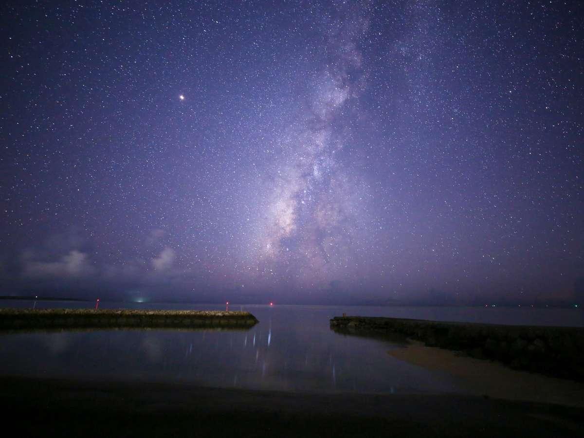 車で5分 赤浜(あかばま)で眺める天の川