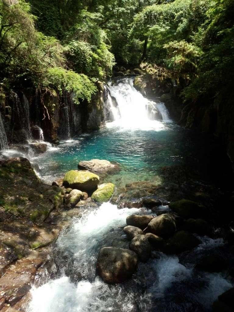 菊池渓谷できれいな水音に癒される♪