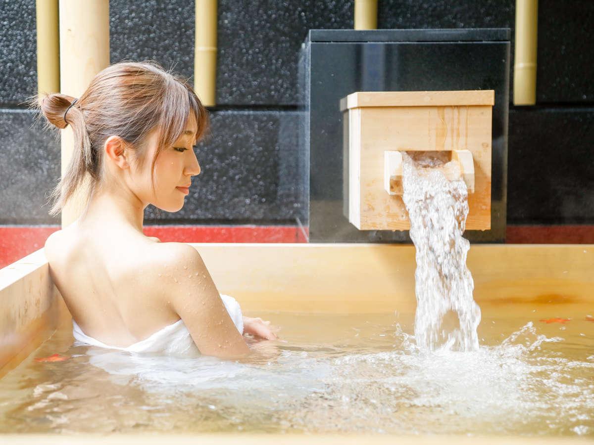 【温泉】全国でも有数のPH値9.4美肌効果が高いなめらかな良泉 ほのかな硫黄の香りのリラックス効果も