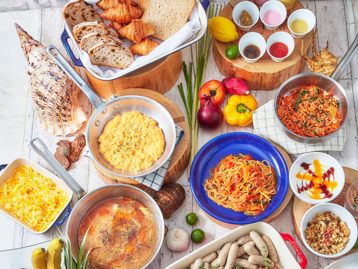 【ウィンズ館/朝食】宮古島ならではの旬の食材を使った、和洋琉料理をご堪能ください。