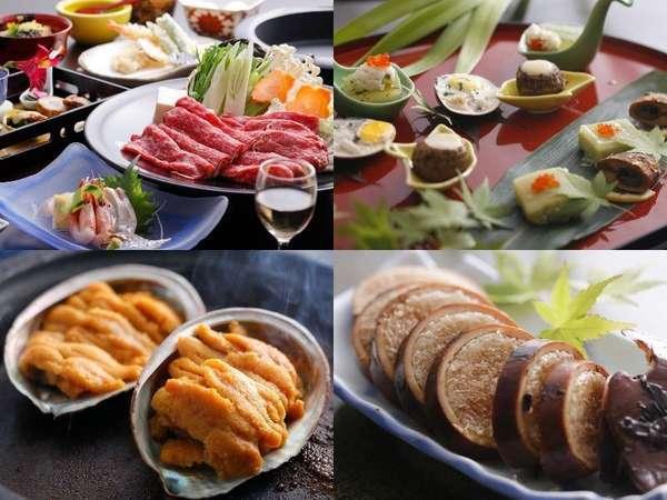 秋の紅葉もりもりご膳(^_-)-☆但馬牛と雲丹で250g♪イカ飯&お月見前菜も♪