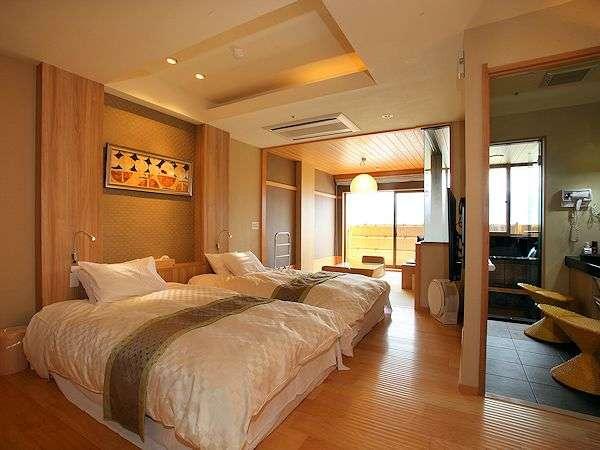露天風呂付客室≪昌客殿≫和洋室(5畳+2ベッド)内風呂なし