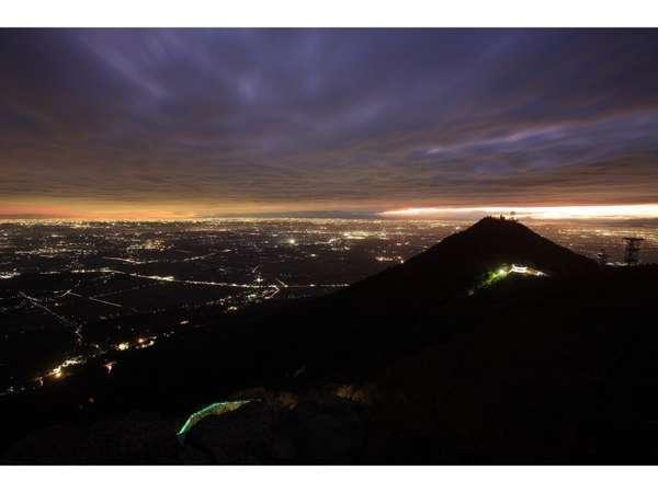 筑波山からの夜景