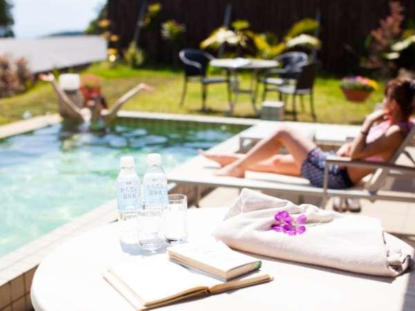 温泉水プール付き離れで リゾート気分♪【薩摩ヴィラ一例】