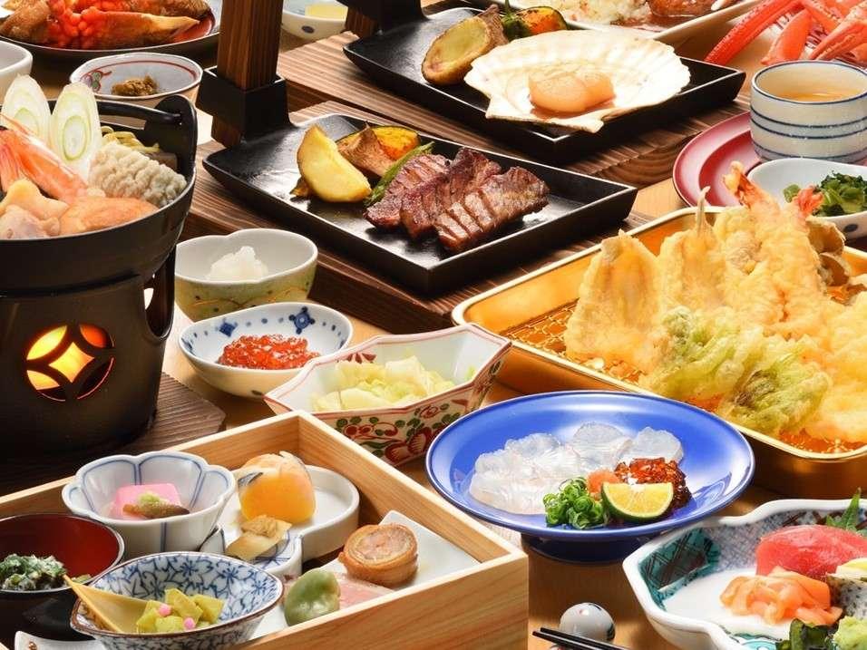 ご夕食「お膳」メニュー※コロナ対策として、ご夕食のご提供方法を変更する場合がございます。