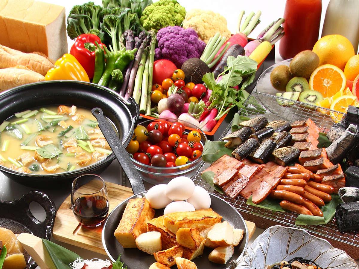 ■朝食バイキング■北海道は食材も豊富!朝一番に「美味しい」をお召し上がりください