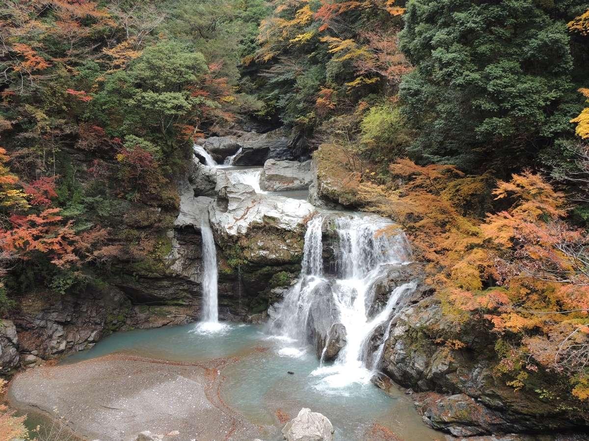 *周辺観光/当館から車で約30分。新緑から11月末の紅葉まで大轟の滝の滝周辺で楽しめます。